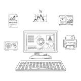 Business, financial and office objects Stock Image