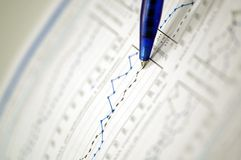 Business and financial report Stock Image