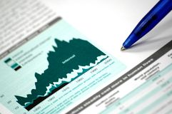 Business and financial report. Showing business and financial report concept of financial report Royalty Free Stock Photos