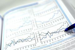 Business and financial report. Showing business and financial report concept of financial report Stock Images