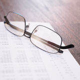 Business financial report close-up Stock Image