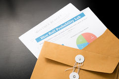 Business and financial report  in envelope.pen,document is mock up. Royalty Free Stock Photos