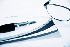 Business  and the financial reports Stock Photos