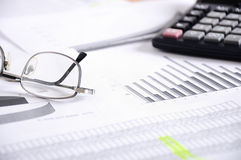 Business  and the financial reports Royalty Free Stock Images