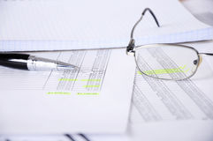 Business  and the financial reports Stock Images