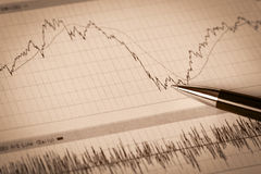 Business  financial reports Stock Photography