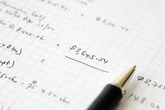 Business financial results - Calculating budget Royalty Free Stock Image