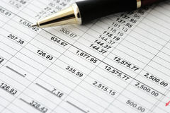 Business financial results - Calculating budget Royalty Free Stock Photography
