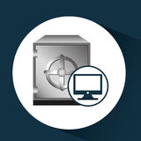 Business financial safe box online icon. Vector illustration eps 10 Stock Images