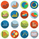 Business and financial statistics vector icons. A business and financial statistics colorful vector icon collection Stock Photography
