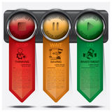 Business And Financial With Traffic Light Sign Infographic Diagr Stock Photos