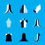 Business financial trend, vector upward arrow. Corporate develop. Ment logo. Company growth concept Stock Photography