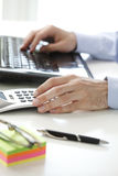 Business financier working at bank Royalty Free Stock Image