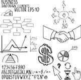 Business elements. Hand-drawn. Business finanse elements. Hand-drawn. Vector illustration eps10 Royalty Free Stock Image