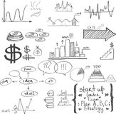 Business elements. Hand-drawn Royalty Free Stock Images