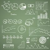 Business and finanse hand draw doodle elements Stock Images