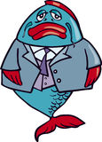 Business fish. Business big fish in suit Stock Image