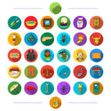 Business, fishing, hygiene and other web icon in flat style.history, diet, sport, icons in set collection. Stock Images