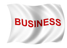 Business flag Royalty Free Stock Photos