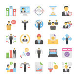 Business Flat Colored Icons 10. Get for your next business designs, You can use this business  icons as you like, the set will pretty fit to the business website Stock Photography