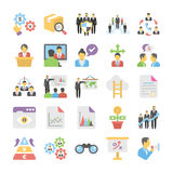 Business Flat Colored Icons 8. Get for your next business designs, You can use this business  icons as you like, the set will pretty fit to the business website Stock Images