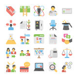 Business Flat Colored Icons 7 Stock Photography