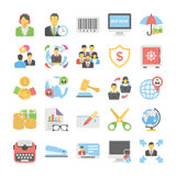 Business Flat Colored Icons 4. Get for your next business designs, You can use this business  icons as you like, the set will pretty fit to the business website Royalty Free Stock Photo
