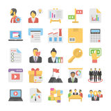 Business Flat Colored Icons 5. Get for your next business designs, You can use this business  icons as you like, the set will pretty fit to the business website Stock Photos