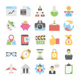 Business Flat Colored Icons 2. Get for your next business designs, You can use this business  icons as you like, the set will pretty fit to the business website Royalty Free Stock Images