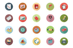Business Flat Colored Icons 3 Stock Photo