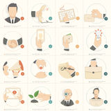 Business  flat concept icons for web design and business templates Royalty Free Stock Photo
