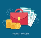Business flat design concept. Royalty Free Stock Image