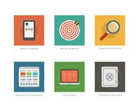 Business flat design icons vector illustration stock illustration