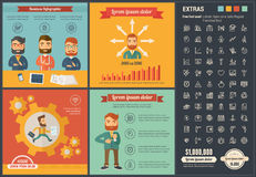 Business flat design Infographic Template Royalty Free Stock Photography