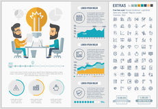 Business flat design Infographic Template Royalty Free Stock Photos