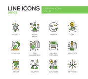 Business - flat design line icons set Royalty Free Stock Image