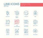 Business - flat design line icons set Stock Image
