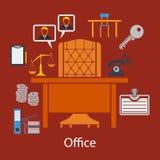 Business flat design Stock Photography