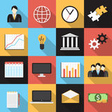 Business Flat Generic Icons Set Royalty Free Stock Photos