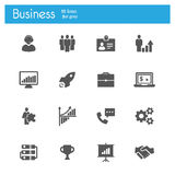 Business flat gray icons Royalty Free Stock Photos