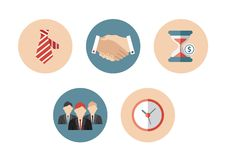 Business flat icon. Icons in the flat style for managers Stock Image