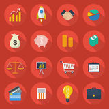 Business Flat Icon Set. Collection Royalty Free Stock Photo