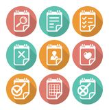 Business Flat icon set. This is file of EPS10 format Stock Photo