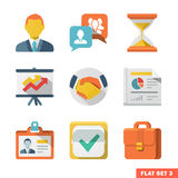 Business Flat icon set Royalty Free Stock Image