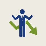 Business Flat Icon Royalty Free Stock Images