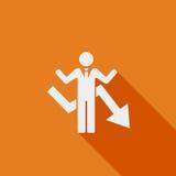Business Flat Icon Stock Photo