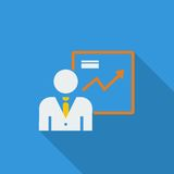 Business Flat Icon Royalty Free Stock Photo