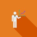 Business Flat Icon Stock Image