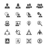 Business Flat Icons Royalty Free Stock Photos