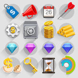 Business Flat Icons Color Set. Royalty Free Stock Image
